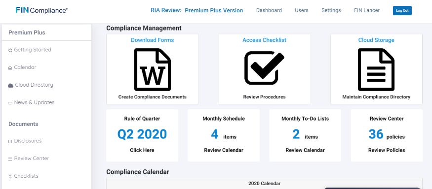 Compliance Dashboard Image